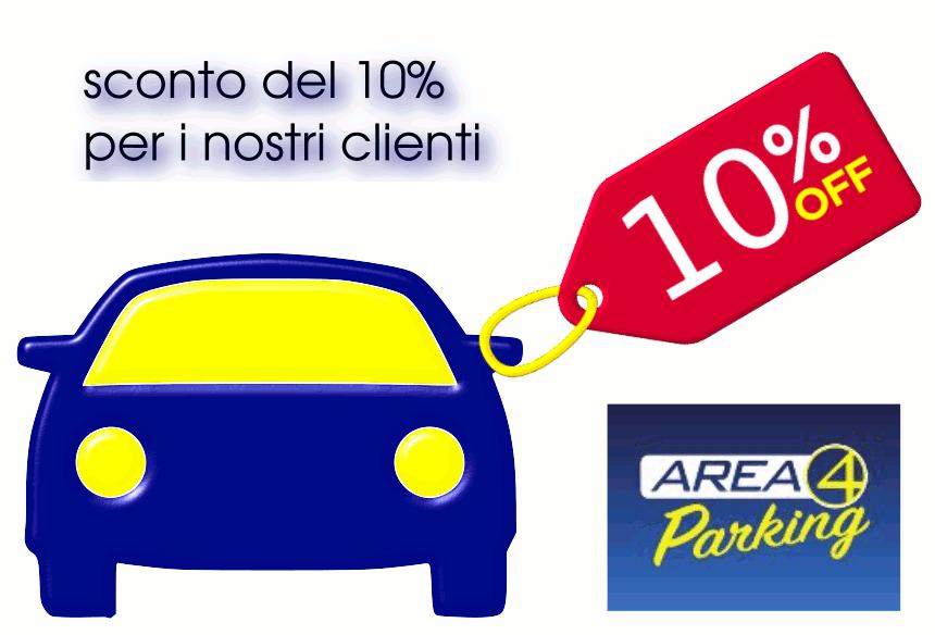 Sconto extra del 10% al parcheggio Fiumicino Area 4 Parking